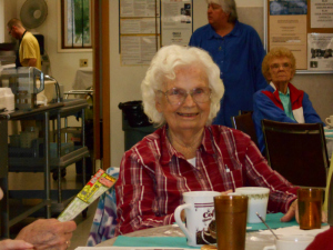Lois is having fun at the Senior Center.
