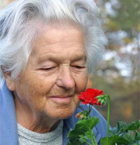 elder woman w flower, 7.19.16